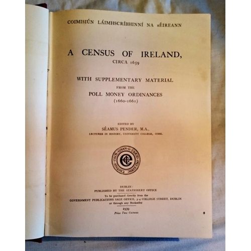 349 - IMC, S.Pender, A Census of Ireland (1939). (1)...