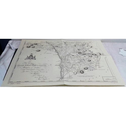 361 - A Map of the County of Kildare by Lieut. Alex. Taylor. 1783. RIA. 1983. Large format map in pocket....