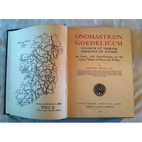 380 - Ed Hogan, Onomasticon Goedelicum  (D. 1910). Lovely copy. (1)...