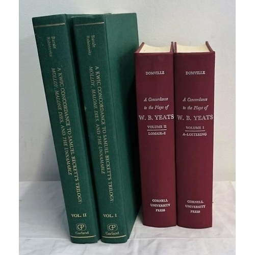 384 - WB Yeats, A Concordance of his Plays… Cornell (1972) 2 vols; S. Beckett,  A Kwic Concordance to his ...