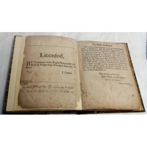 385 - The City of Londonderry by Walker. 1689. Lacks title page. Quarter leather....