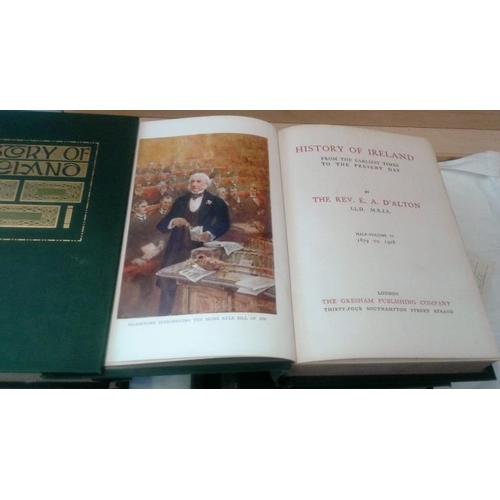 389 - History of Ireland  by Rev  E. A. D'alton.  London. 1913. 6 volumes. Nice set...