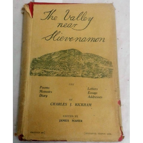 390 - The Valley near Slievenamon. Kickham Anthology. James Maher. Dust wrapper. 1941....