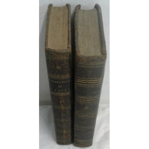 399 - 18th Century Plays. Collection of Farces and Entertainments. Edinburgh. 1792. 2 volumes. Leather....