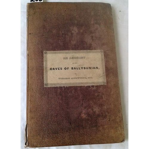 408 - An Account of the Caves of Ballybunion, County of Kerry with some mineralogical details. William Ain...