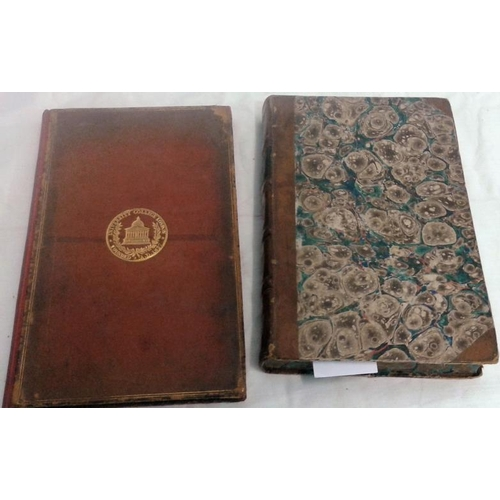 421 - The Antiquities of the Anglo-Saxon Church by Rev. John Lingard. 1801. Half leather & Treatise of Ris...