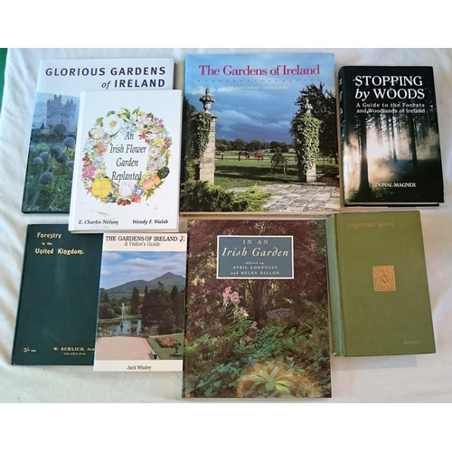 425 - Gardens and Trees:  Mackay, Trodden Gold  (1928); Magner, Stopping by Woods, signed copy, (2011); Sc...