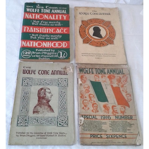 432 - Wolfe Tone Annuals. 1932, 33, 35 and scarce 1944 issue. 4 books....