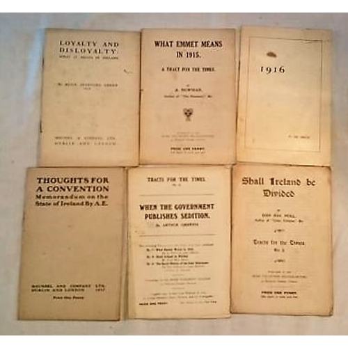 433 - Pamphlets: Thoughts for a Convention, AE (1917); What Emmet means in 1915,  A. Newman; When the Gove...