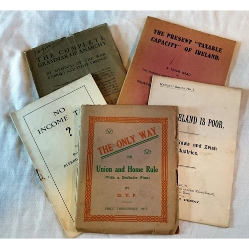 443 - Pamphlets: The Present 'Taxable Capacity' of Ireland, Oldham, 1921; No Income Tax?, Prof Alfred O'Ra...
