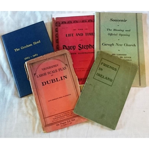 444 - Booklets: Friends in Ireland Alice Mary Hodgkin, 1910; The life and times of Davy Stephens, 1907, sm...