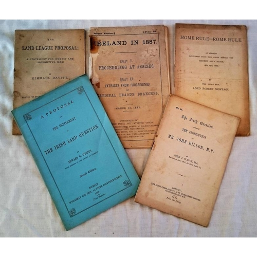 446 - Pamphlets 1860s/80s: A proposal… the Irish Land Question, O'Brien (1869); Prosecution of Mr. John  D...