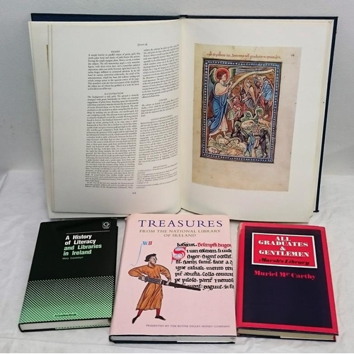 448 - Libraries: History of Literacy and Libraries in Ireland (1984); Treasures from the NLI (1994); Treas...