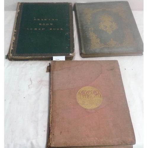 451 - Fisher's  Drawing Room Scrap Book. London. 1833, 1837, 1848. Plates. 3 books....