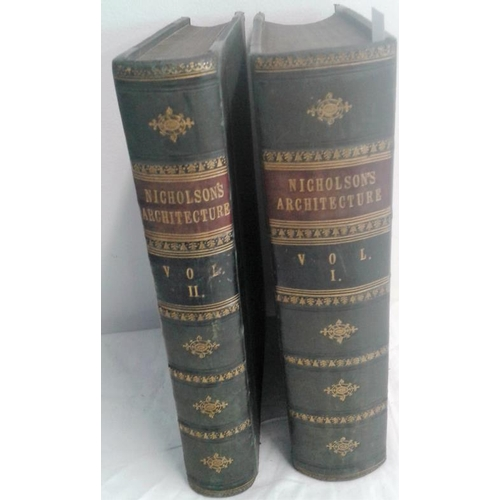452 - Nicholson's  Dictionary of The Science and Practice of Architecture, Building, Carpentry. London. Ci...