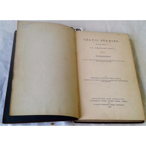 459 - Celtic Studies from the German of Doctor Hermann Ebel. LONDON. 1863. 232 pages. Cloth...