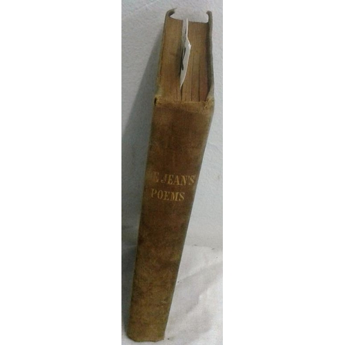 469 - Poems  by J.  De Jean.  DUBLIN. 1851. velvet binding. John de Jean Frazer was born in Birr in 1804....