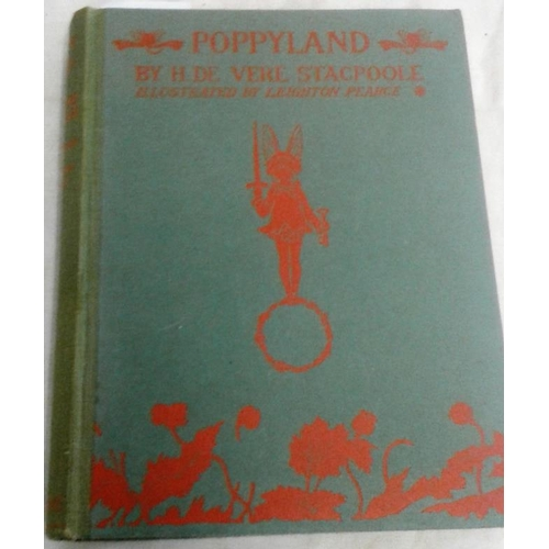 483 - Poppyland by H. De Vere Stacpoole, illustrated by Leighton Pearce. 1914. Bodley Head. Large format. ...