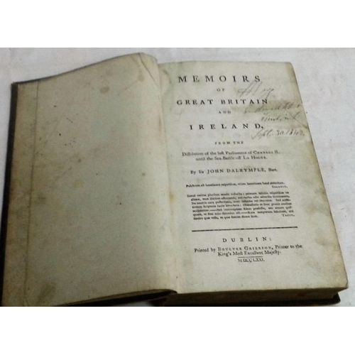 486 - Memoirs of Great-Britain and Ireland, from the last Parliament of Charles II until the Sea-Battle of...