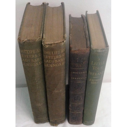 497 - Life and Letters of  Lady Sarah Lennox in 2 vols. & A Little Tour in Ireland by S. Reyolds Hole. 189...