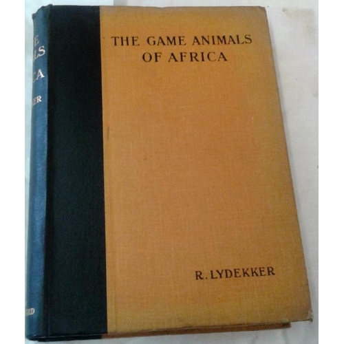 506 - The Game Animals of Africa by R. Lydekker. London...