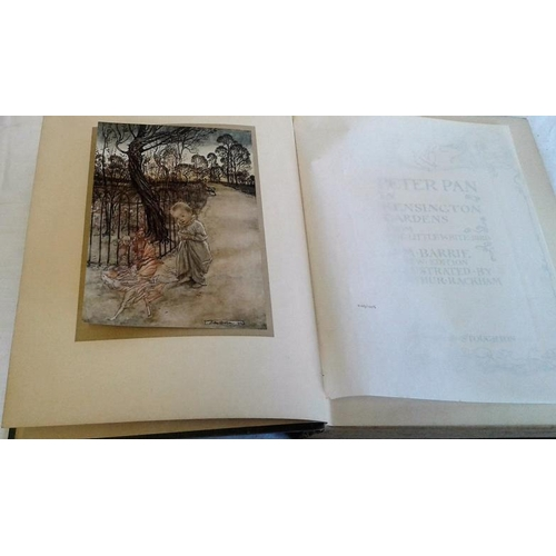509 - Peter Pan in Kensington Gardens by J. M. Barrie.   Illustrated by Arthur Rackham.  London, Hodder St...