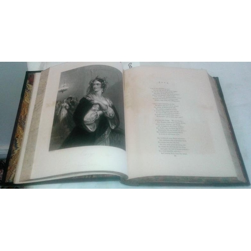 514 - Fisher's Drawing  Room Scrapbook.  1837 with illustrations by Norton and Mackay. 2 vols in one. Half...