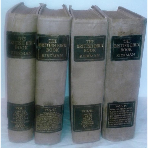 516 - The British Bird Book by F. D. Kirkman. Edinburgh.  1912. 4 vols. Large format. Colour plates....