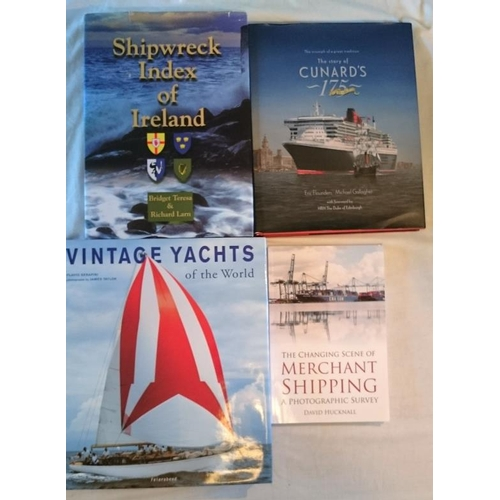 519 - Shipping: Ricard and Bridget Larn, Shipwreck Index of Ireland (2002). Folio; Vintage Yachts of the W...