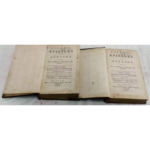 166 - Cicero's Epistles translated into English by William Guthrie. London. 1752. Leather. nice set. 30-60...