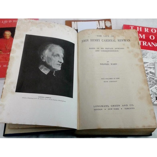510 - John Henry Newman: Life of by Wilfrid Ward  (2 vols in one 1927); and four other modern works on New...