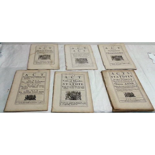 188a - A collection of eighteenth century Irish Acts. Loose in pocket. Some scarce acts....