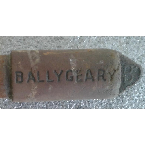17 - Small Steel Staff, Ballygeary to Rosslare Strand - 9.5ins...
