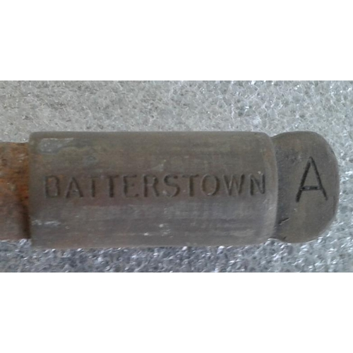43 - Small Steel Staff, Batterstown to Drumree - 9.5ins...