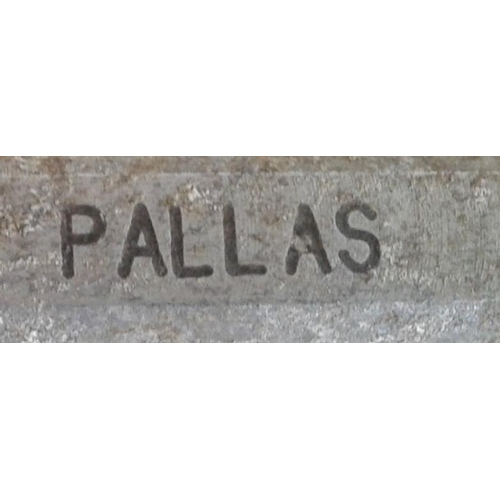 49 - Small Aluminium Staff, Oola to Pallas - 10ins...