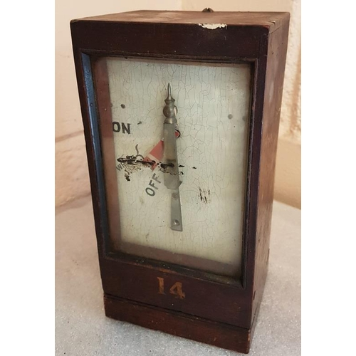 52 - No. 14 Signal Box Instrument - 8.5ins tall...