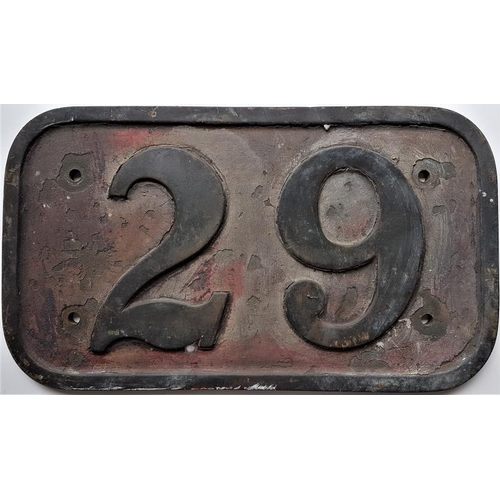 53 - Steel and Brass Cabside Number Plate,