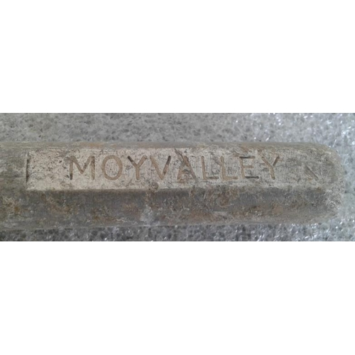 72 - Small Aluminium Staff, Moyvalley to Hill of Down - 10ins...