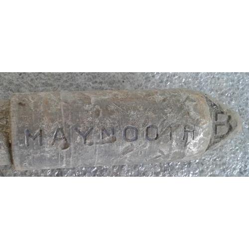 73 - Small Aluminium Staff, Kilcock to Maynooth - 10ins...