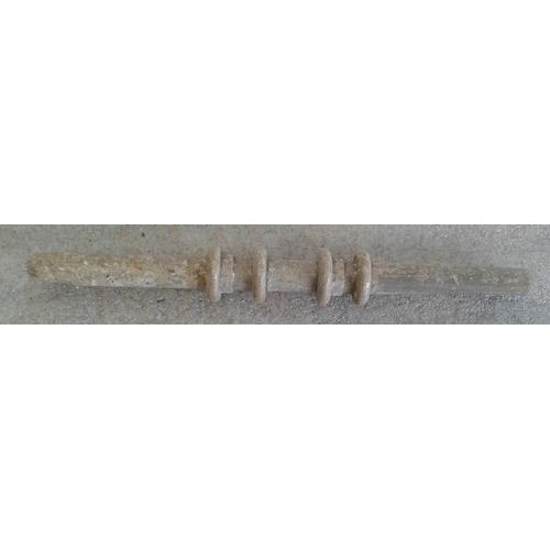 75 - Small Aluminium Staff, Kilcock to Maynooth - 10ins...