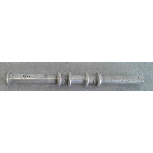 76 - Small Aluminium Staff, Bray to Greystones - 10ins...