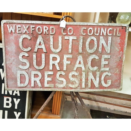 89 - Pair of Wexford County Council Signs on Stands - c. 30ins wide - 25install...