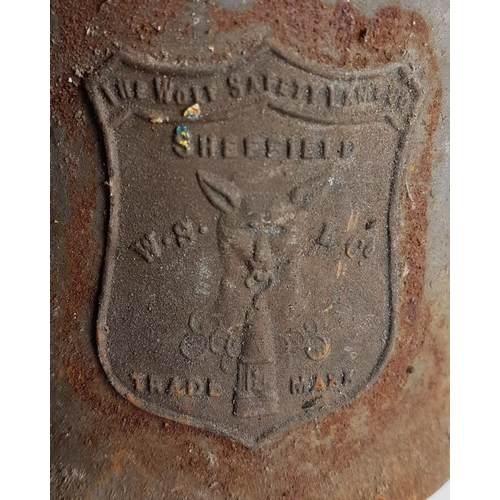 119 - The Wolf Safety Lamp Co. Sheffield Railway Lamp, 10.5in...