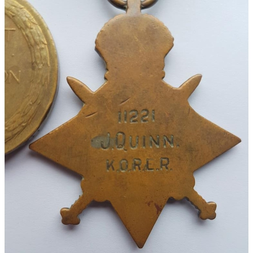 2 - Medal Group for J Quinn K.O.R.L.R. 11221 -