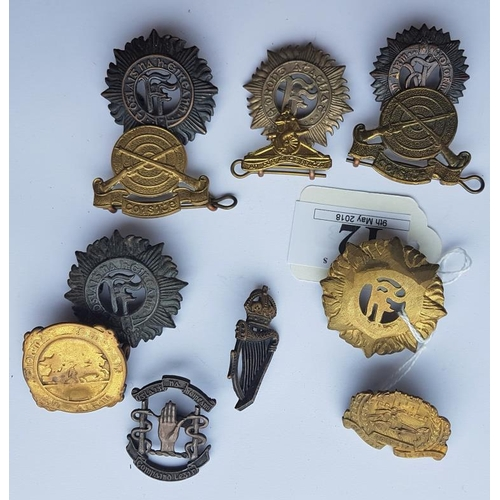 12 - Collection of Various Irish Defence Forces Cap Badges (12)...