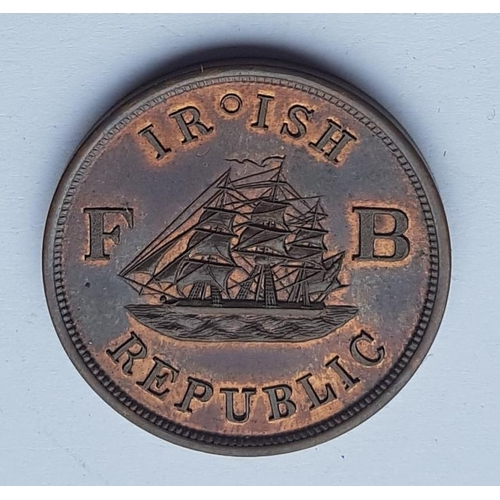 31 - Ireland-America Fenian Brotherhood 1866 Bronze Token - struck