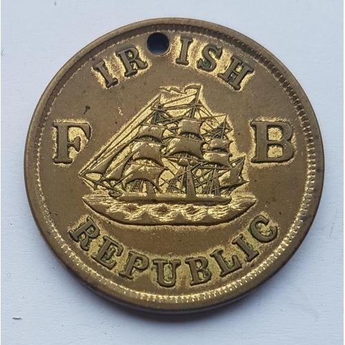 32 - Ireland-America Fenian Brotherhood 1866 Brass Medal - struck