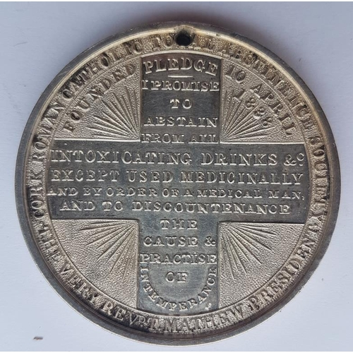 37 - Cork Roman Catholic Total Abstinence Society / Father Matthew Medal - excellent condition. Diameter ...