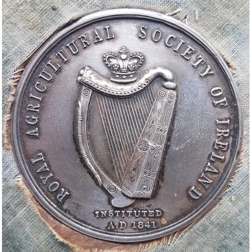41 - Rare Collection of Five Royal Agricultural Society of Ireland Medals, four awarded by Carlow Farming...