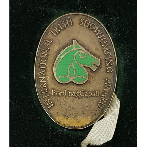 44A - Irish Show Jumping Medal awarded to Iris Kellett (1975) in case of issue...
